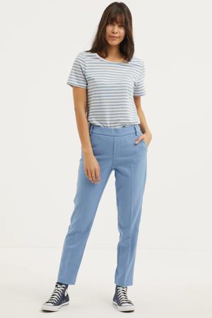 gestreept T-shirt VISUS van biologisch katoen lichtblauw