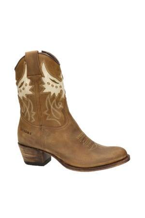 16227 Debora  leren cowboylaarzen bruin