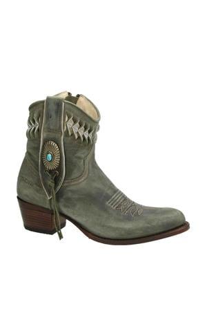 14095 Debora  nubuck cowboylaarzen groen