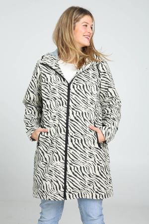 jack waterafstotend in zebraprint ecru/zwart