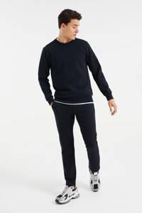 WE Fashion slim fit broek met all over print royal navy, Royal Navy