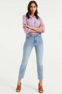 WE Fashion Blue Ridge high waist slim fit jeans Blue Ridge light blue denim, Light blue denim