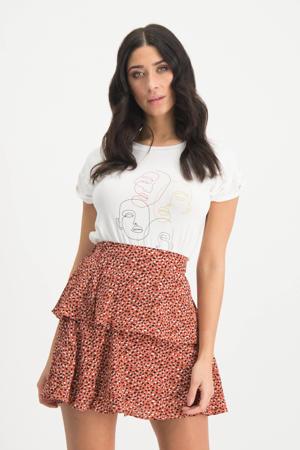 T-shirt Karina met printopdruk wit