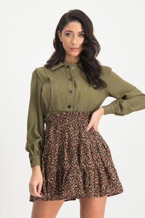 blouse Olga met plooien groen
