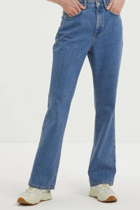 NA-KD bootcut jeans mid blue, Mid blue