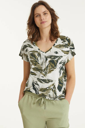top IcalinaPW TS met all over print groen
