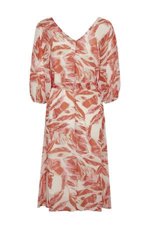 jurk Camille met all over print rood