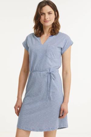 gestreepte jurk IlimaPW DR blauw/wit