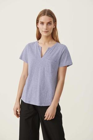 gestreepte T-shirt GesinaPW blauw/wit