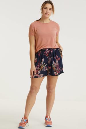 gemêleerd T-shirt VMAVA koraalrood