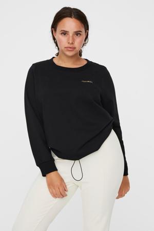 sweater VMCAISA van biologisch katoen zwart/goud