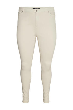 high waist skinny jeans VMLORA ecru