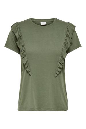 T-shirt met volant groen