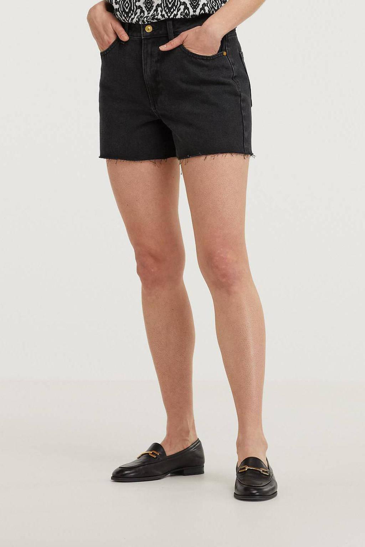 JDY high waist jeans short zwart, Zwart