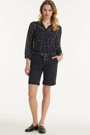 blouse Hollie met all over print zwart