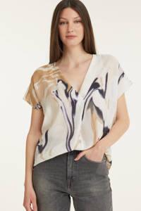 Inwear top Hazini met all over print ecru/beige, Ecru/beige