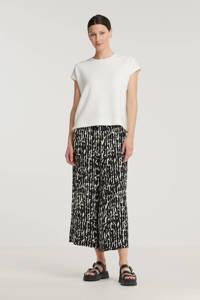 Inwear loose fit broek Quiana met all over print zwart, Zwart