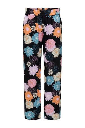 straight fit broek JDYSTAAR met all over print donkerblauw