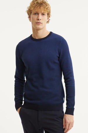fijngebreide trui Faro donkerblauw