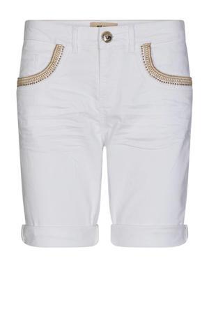 straight fit broek met biologisch katoen wit