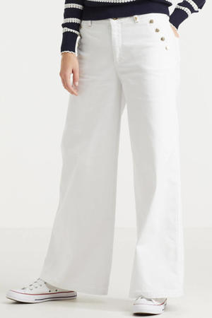 cropped high waist wide leg jeans Reem Vera wit