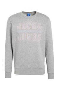 JACK & JONES ORIGINALS sweater Faster met logo grijs, Grijs