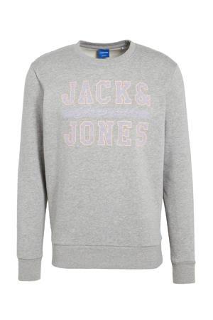sweater Faster met logo grijs