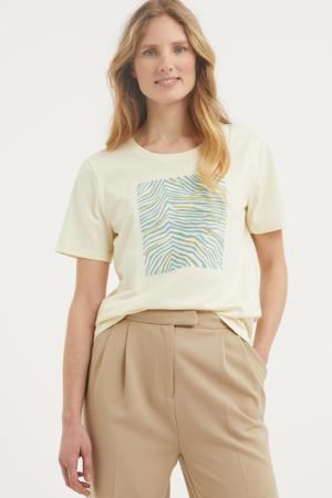 T-shirt Mi met printopdruk ecru