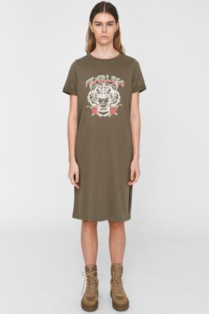 T-shirtjurk van biologisch katoen groen