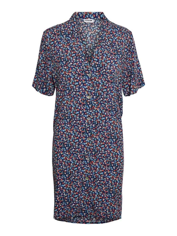 NOISY MAY gebloemde jurk NMASTA  blauw/multi, Blauw/multi