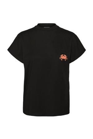 T-shirt met biologisch katoen zwart