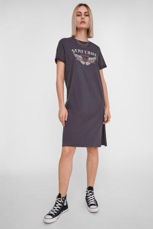 T-shirtjurk van biologisch katoen grijs