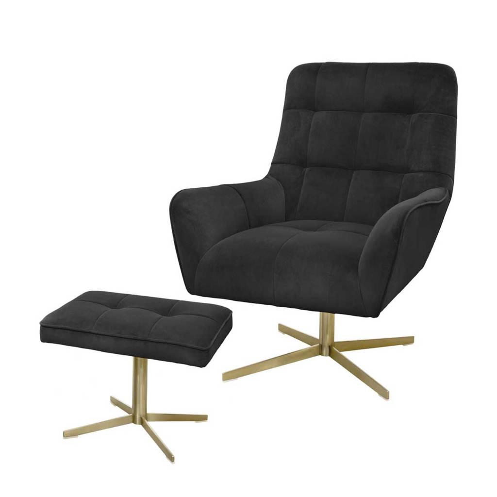 Riverdale fauteuil Maylin, Zwart