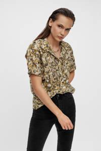 OBJECT blouse OBJAZZA met all over print kaki, Kaki
