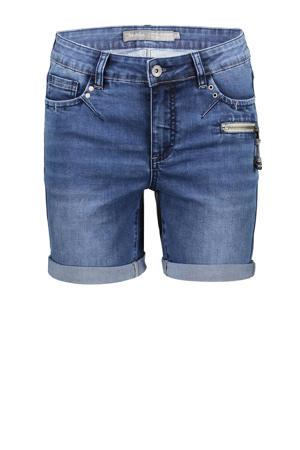 skinny jeans short dark denim