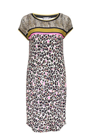 jurk met printopdruk multi