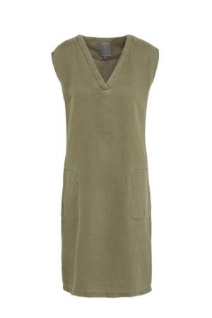 jurk met plooien groen
