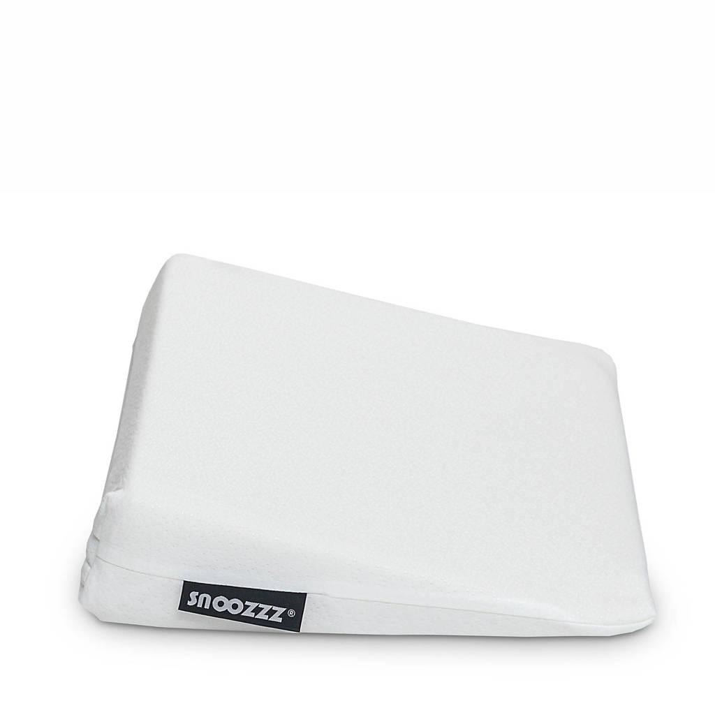 Snoozzz katoenen anti reflux kussen (60x40 cm) - Wit