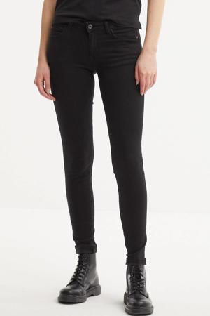 low waist skinny jeans zwart
