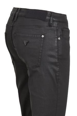 coated slim fit broek Annette zwart