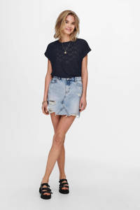 ONLY top donkerblauw, Donkerblauw