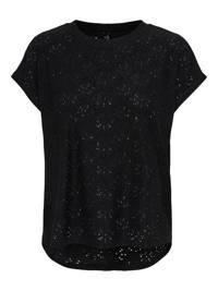 ONLY top met open detail zwart, Zwart
