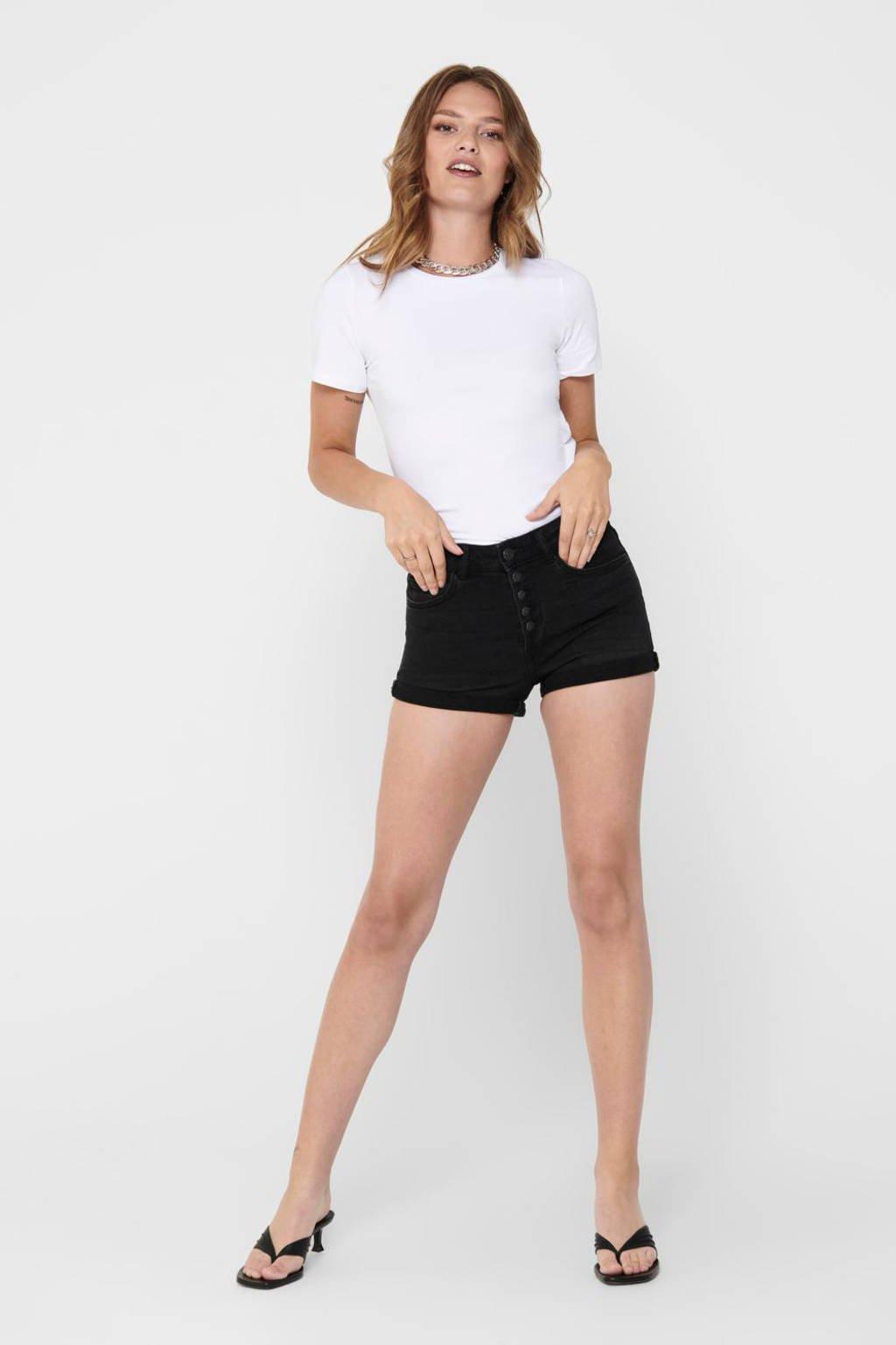 ONLY high waist short zwart, Zwart