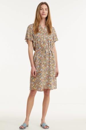 gebloemde jurk Galia zalmroze