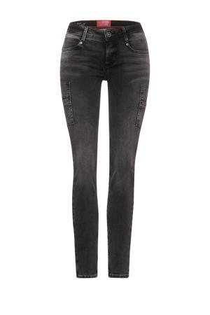 slim fit jeans York antraciet bleached