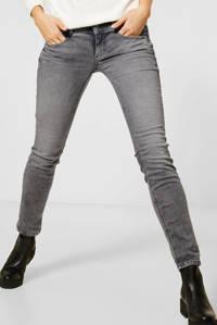Street One low waist slim fit jeans Crissi grijs bleached, Grijs bleached