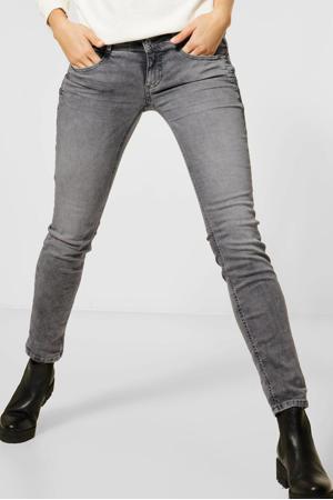 low waist slim fit jeans Crissi grijs bleached