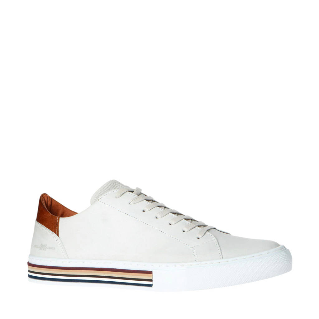 Manfield   leren sneakers off white, Off White