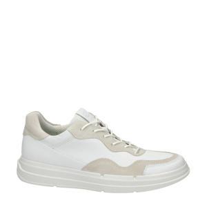 Soft X  leren veterschoenen wit/beige