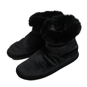 velours pantoffels zwart